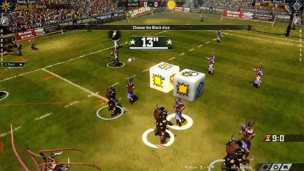 Blood Bowl 2 — Кубики