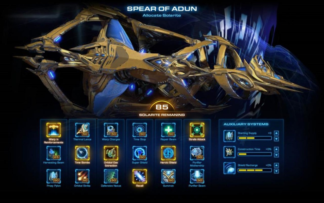 Starcraft 2 Legacy of the Void корабль