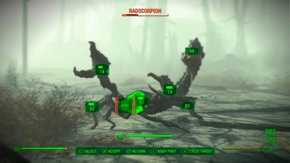 Fallout 4 V.A.T.S. system